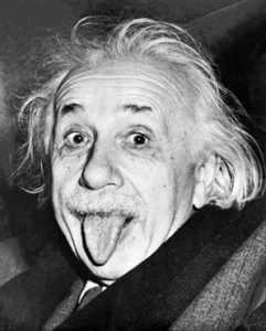 Einstein sticking his tongue out
