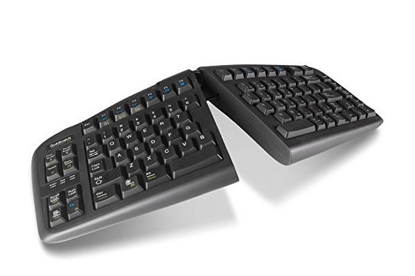 Angled split keyboard