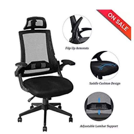 High-back ergonomic chair