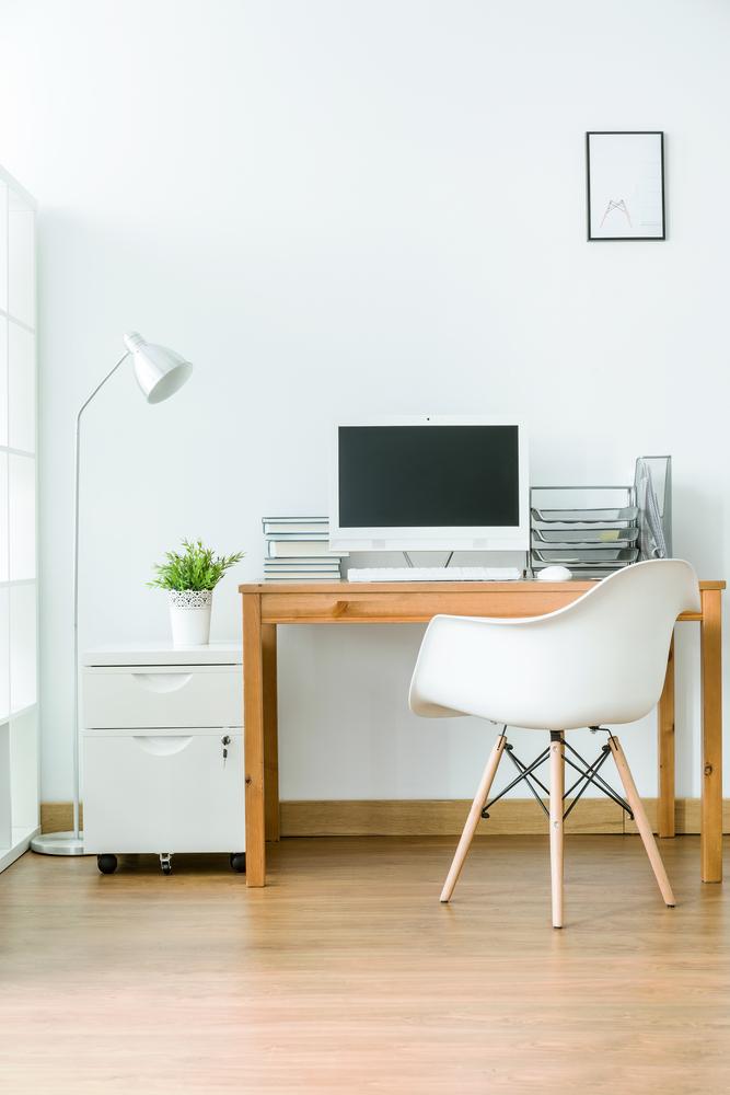 Scandinavian home office.