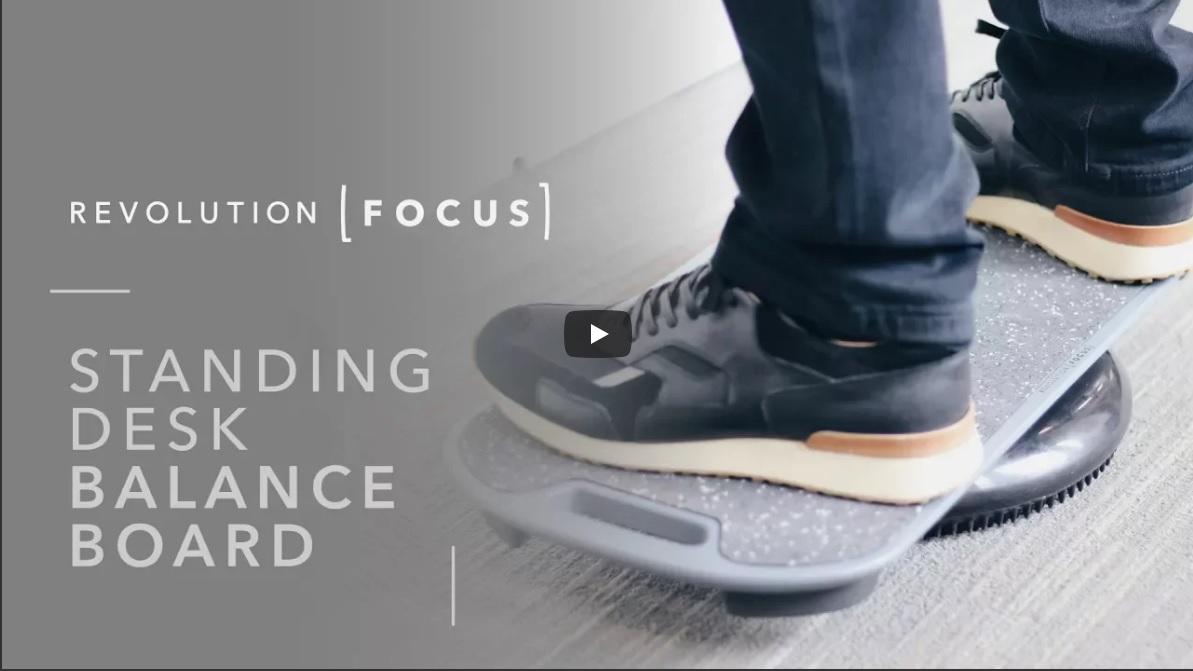 Standing desk balancing board