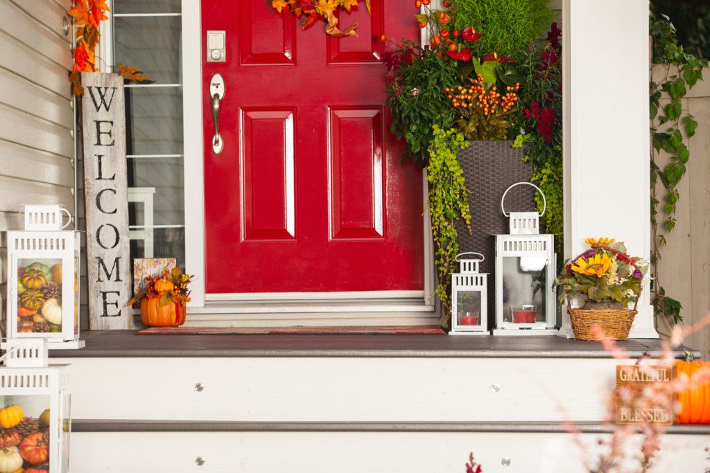 Front door fall decorations
