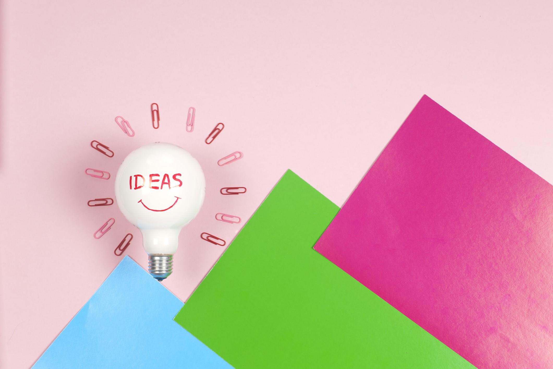 Creative brainstorm concept business idea, innovation and solution, creative design.