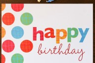 Customize your own greeting cards to wish your coworkers and frequent customers a happy birthday.