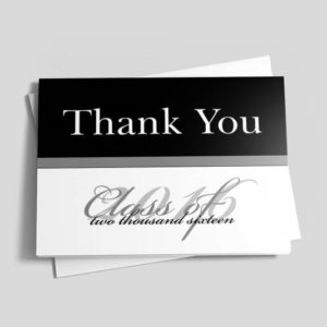 Send a thank-you card to everyone who attended your graduation party, even if they didn't present you with a gift.