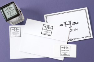 Use a stamp to quickly add your return address to a letter.