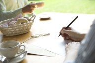 Writing letters by hand is a great way to improve your language skills.